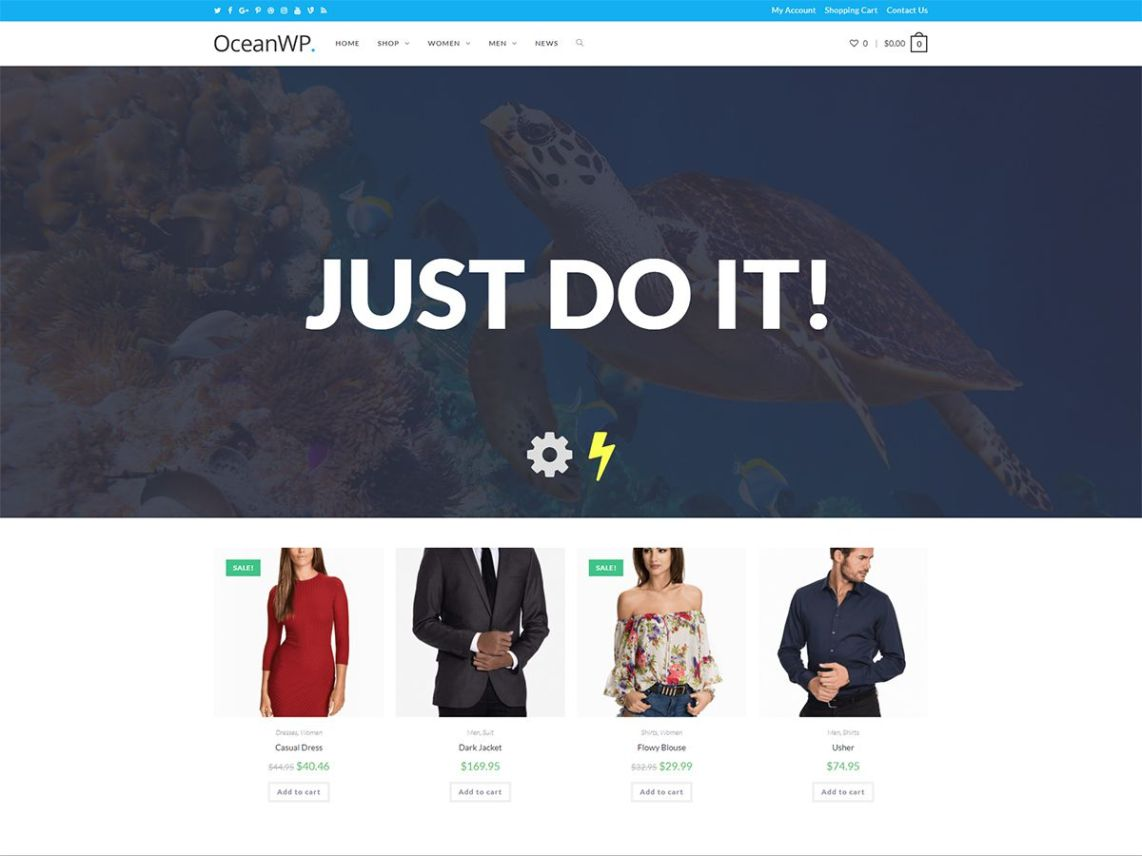 OceanWP WordPress Theme Image
